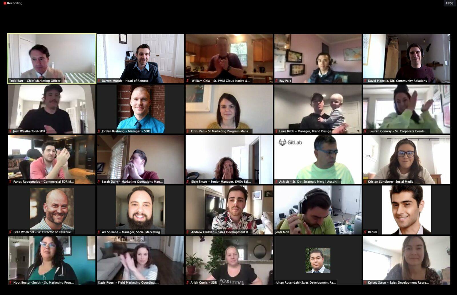 Собрание руководителей GitLab