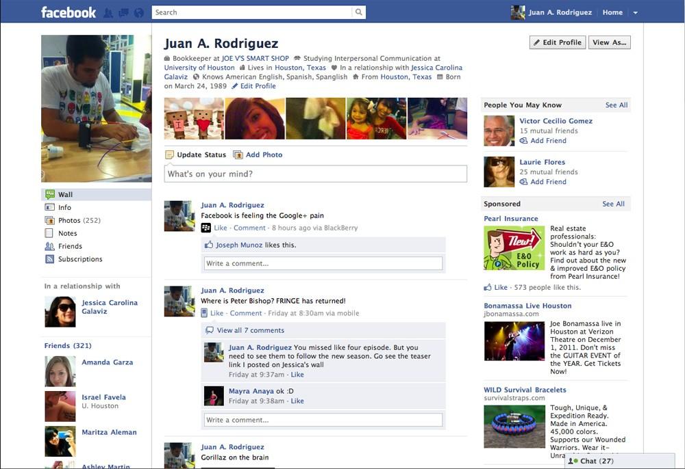 Faceboook как MVP