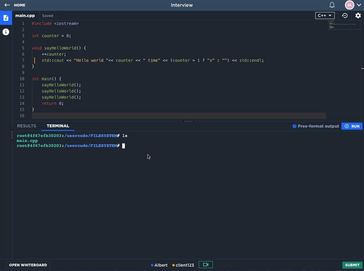 CodeSignal — проверка разработчиков