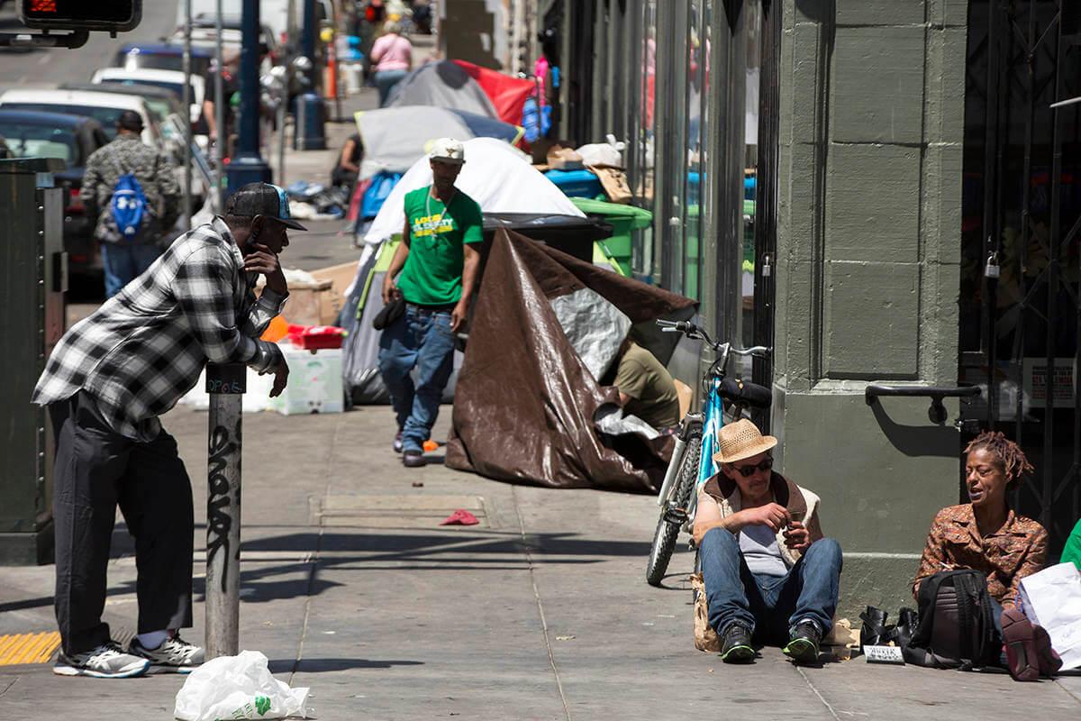 Печально известный район Тендерлойн в Сан-Франциско