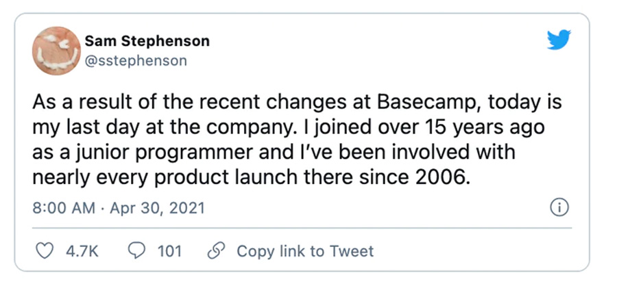 Увольнение Basecamp
