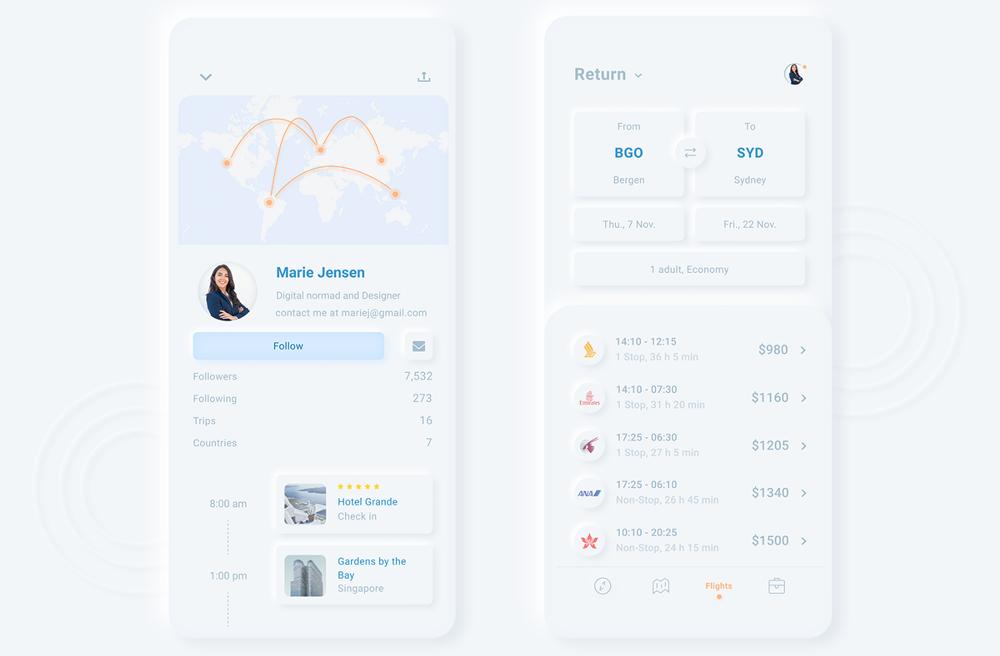 Неоморфный дизайн UI